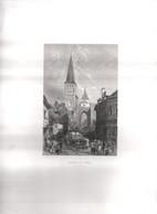 Gravure Ancienne/Bords De Loire/Eglise Ste CROIX La Charité  /Dessinés  Et Gravés Par ROUARGUE Frères/Paris/1850  LOIR22 - Engravings