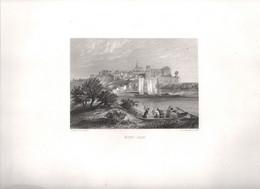 Gravure Ancienne/Bords De Loire/MONT-JEAN  /Dessinés  Et Gravés Par ROUARGUE Frères/Paris/1850  LOIR23 - Engravings