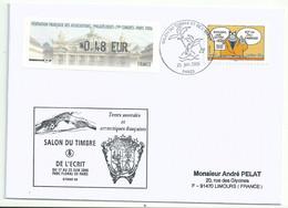 Vignette De Distributeur LISA - ATM - Salon Du Timbre Et De L'écrit - Opéra Garnier - YT A58 - Le Chat - 1999-2009 Viñetas De Franqueo Illustradas