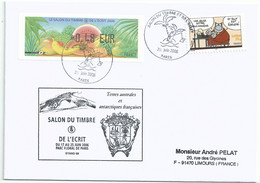 Vignette De Distributeur LISA - ATM - Salon Du Timbre Et De L'écrit - Fruits Exotiques - YT A57 - Le Chat - 1999-2009 Viñetas De Franqueo Illustradas