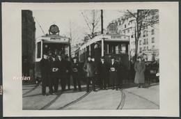 Paris - Format CPA - Photo Tirage Tardif Tramways Des Lignes 80 Et 128 Avec Leurs Personnels Porte D'Orléans - 2 Scans - Tramways