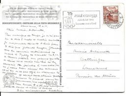 CARTE POSTALE AVEC CACHET JUBILE OLYMPIQUE JUIN-JUILLET 1944 LAUSANNE VOUS ATTEND - Sin Clasificación