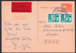 Eil-Inlandspostkarte, Ganzsache DDR P88A Portogenau 27.5.89 Großschönau  Nach Dresden, Rs Eingangsst. - Postales - Usados