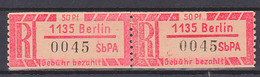 SbPA Selbstbedienungs-R-Zettel Postfrisch 1135 BERLIN Zusammenhängend - Variedades