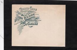 Enveloppe Illustrée - GRAND CAFE - RENOU  à  MOULINS  (Enveloppe Vierge, Non Circulée) - Sin Clasificación