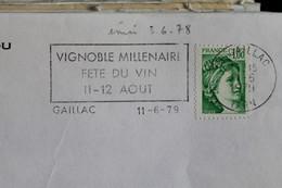 GAILLAC     -      (  TARN  )    1979   FLAMME     SUR  ENVELOPPE  COMPLETE - Mechanical Postmarks (Advertisement)