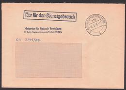 BERLIN-Niederschöneweide ZKD-Brief R1 NfD Ministerium Für Nationale Verteidigung 16.8.76, - Service