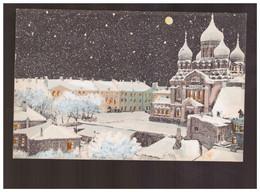 Reval Schloss  Und Alexander Nevsky Kathedrale  Ca 1905 Old Postcard - Estland