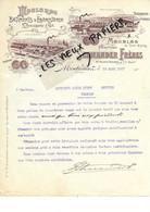 25 - Doubs - MONTBELIARD - Facture SCHWANDER - Meubles, Moulures Pour Bâtiments Et ébénisterie, Etc - 1907 - REF 173A - 1900 – 1949