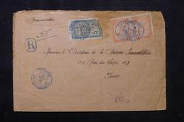 MADAGASCAR - Enveloppe De Behily, Départ En Recommandé De Tsivory Pour Paris En 1912 ( 2 Mois D'acheminement ) - L 75745 - Brieven En Documenten