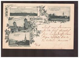 Gruss Aus Reval 1898 Old Postcard - Estland
