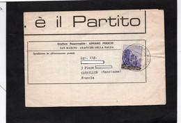 """Cachet SAN MARINO Sur YT 668 - Sur Feuille Journal """"Partito Socialsta Democratico Indipendente"""" -RISCOSSA SOCIALISTA - Cartas"""