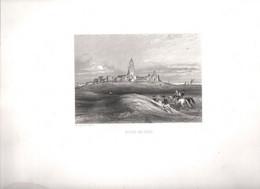 Gravure Ancienne/Bords De Loire/BOURG De BATZ/Dessinés  Et Gravés Par ROUARGUE Frères/Paris/1850  LOIR29 - Engravings