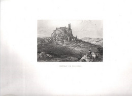 Gravure Ancienne/Bords De Loire/CHÂTEAU De POLIGNAC/Dessinés  Et Gravés Par ROUARGUE Frères/Paris/1850  LOIR30 - Engravings