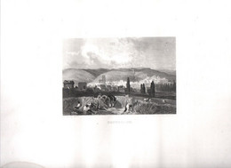 Gravure Ancienne/Bords De Loire/ MONTBRISON  /Dessinés  Et Gravés Par ROUARGUE Frères/Paris/1850  LOIR35 - Engravings