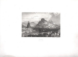 Gravure Ancienne/Bords De Loire/ LE PUY Vue D'ESPAILLY  /Dessinés  Et Gravés Par ROUARGUE Frères/Paris/1850  LOIR36 - Engravings