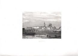 Gravure Ancienne/Bords De Loire/ BEAUGENCY /Dessinés  Et Gravés Par ROUARGUE Frères/Paris/1850  LOIR37 - Engravings