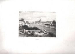 Gravure Ancienne/Bords De Loire/TOURS /Dessinés  Et Gravés Par ROUARGUE Frères/Paris/1850  LOIR39 - Engravings