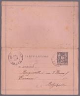 FRANCE - Entier Postal - Carte-lettre -  25c Noir Sur Rose - Sage - 1901 - Kaartbrieven