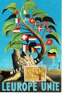 CARTE MAXIMUM  EUROPA 1962 - Cartoline Maximum
