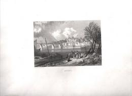 Gravure Ancienne/Bords De Loire/ ANCENIS /Dessinés  Et Gravés Par ROUARGUE Frères/Paris/1850  LOIR42 - Engravings