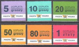 Poland 1998 - Postage Due - Mi.169-74 - MNH - Impuestos