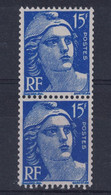 TIMBRE GANDON N° 886 15F BLEU Au TYPE III ISSU De ROULETTE NEUF ** ET * - 1945-54 Marianne (Gandon)