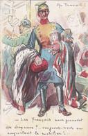 GUERRE 1914-18 - SATIRIQUE - Illustré Par HENRIOT - Au Travail - Les Français Nous Prennent Des Drapeau? Vengeons Etc... - War 1914-18