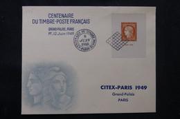 FRANCE - Enveloppe FDC Citex En 1949 - L 75764 - ....-1949
