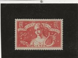 TIMBRE N° 308  NEUF SANS CHARNIERE - TB - ANNEE 1935 -CHOMEURS INTELLECTUELS - COTE : 135 € - Mechanische Stempels (reclame)