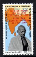 Cameroun  PA N° 151  X Mahatma Gandhi : 30 F. Surchargé Premier Homme Sur La Lune En Français Et Anglais Trace Char.TB - Kameroen (1960-...)