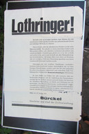 Rare Affiche En Moselle 1941  2e Guerre Mondiale - Documenti