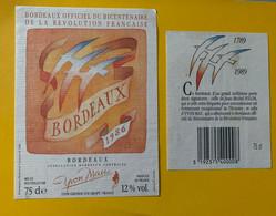 16731 -  Bordeaux Officiel Du Bicentenaire De La Révolution Française 1986 Illustration Folon - Bicentenary Of The French Revolution