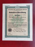 Allemagne Emprunt Du Reich 50000 Marks 1922 - Sonstige
