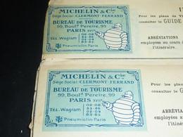 MICHELIN - 2 LETTRES DACTYLOGRAPHIES DE 1921 + 84 PARCOURS ROUTIERS DACTYLOGRAPHIES AVEC DIFFERENTS EN-TETES (DOC-C) - Cars