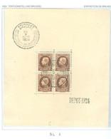 Bloc 1 Oblitéré Côte 320€ - Blocks & Sheetlets 1924-1960