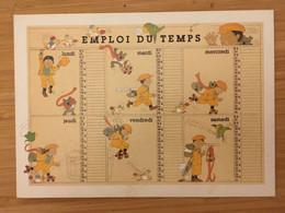 MONIQUE TOUVAY EMPLOI DU TEMPS - Autres Illustrateurs