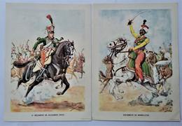 Lot De 2 Planches D'uniformes - 1er EMPIRE -  Imp. Armoricaine, Nantes - Estampes & Gravures