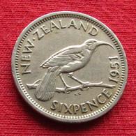 New Zealand 6 Sixpence Pence 1951 KM# 16 *V1 Nova Zelandia Nuova Zelanda Nouvelle Zelande Six - Nouvelle-Zélande