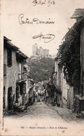 Carte Postale Ancienne - Circulé - Dép. 12 - NAJAC - Rue Et Chateau - Najac