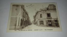 CARTE LES ENVIRONS DE RENNES CESSON RUE PRINCIPALE N°431 1946 - Rennes