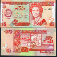 BELIZE P67d 5 DOLLARS 1 July 2009 #DM        UNC. - Belize