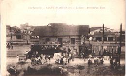 FR66 CANET - Fau - La Gare - Arrivée D'un Tram - Animée - Belle - Canet Plage