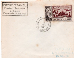 MATA-UTU PHILATELIE WALLIS FUTUNA PIERRE CHANEL Premier Missionnaire De Futuna Canonisé 13 Juin 1954 - Covers & Documents