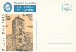 ANDORRE ESPAGNOL E NTIER FRANCHISE AVION VIGUERIE EPISCOPALE - Episcopale Vignetten
