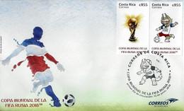 Costa Rica 2018 FIFA World Cup Russia™ Sc 697 FDC - 2018 – Russia