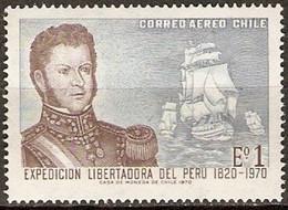 CHILI -  150éme Anniversaire Du Départ De L'expédition Libératrice Du Perou - Ships