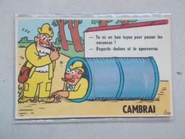 CPA DE CAMBRAI Carte A Système - Cambrai