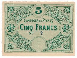 PARIS // COMPTOIR De PARIS // Bon De Cinq Francs - Buoni & Necessità