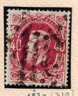 N° 34 Papier Ordinaire Oblitération à Points - 1869-1883 Leopold II.